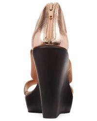 Charles by Charles David - Pink Pauline Platform Wedge Sandals - Lyst