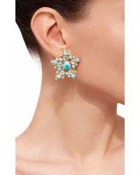 Bounkit | Blue Quartz And Turquoise Earrings | Lyst
