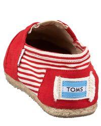 TOMS - Red University Slip-on - Lyst