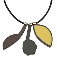 Marni - Multicolor Leather Pull Necklace - Lyst