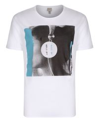 Bench | White Contant Graphic Crew Neck Slim Fit T-shirt for Men | Lyst