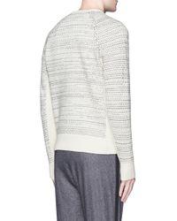 Rag & Bone | White 'justin' Birdseye Stripe Cashmere Sweater for Men | Lyst