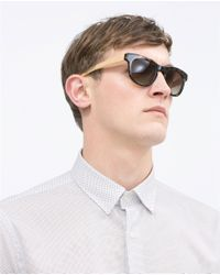 Zara | White Printed Shirt for Men | Lyst