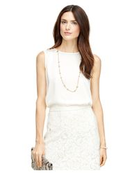Brooks Brothers | White Sleeveless Blouse | Lyst