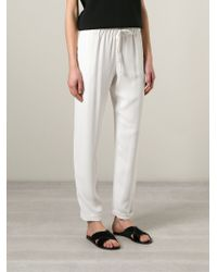 P.A.R.O.S.H. - White 'pody' Trousers - Lyst
