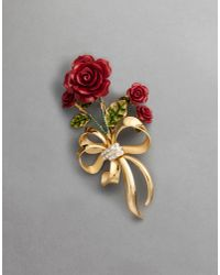 Dolce & Gabbana | Metallic Red Brooch | Lyst
