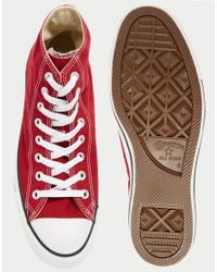 Converse | Red Chuck Taylor All Star Plimsolls for Men | Lyst