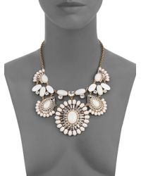 kate spade new york | White Capri Garden Cabochon Cluster Statement Necklace | Lyst
