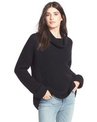 Free People Black 'sidewinder' Wool Pullover