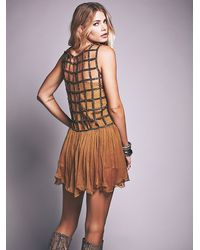 Free People | Brown Womens Sequin Shell Dress | Lyst