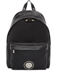 Versus - Black Canvas And Leather Backpack - Lyst