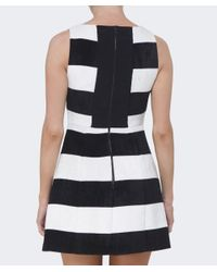 Alice + Olivia - Black Boat Neck Pocket Dress - Lyst