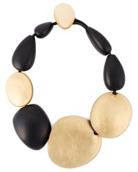 Monies | Black Oversized Beads Necklace | Lyst