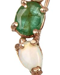 Loren Stewart - Green Diamond, Emerald, Pearl, Opal & Gold Earring - Lyst