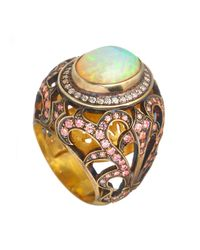 Queensbee - Multicolor Star Ring Opal - Lyst