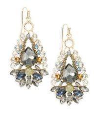 Cara | Multicolor Crystal Teardrop Earrings | Lyst