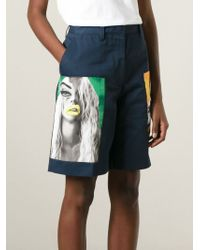 Acne Studios - Blue Knee Length Short - Lyst