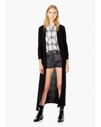 Mango - Black Flecked Cotton-blend Jacket - Lyst