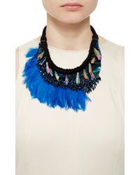 Mignonne Gavigan - Blue Najlah Silk And Feather Beaded Necklace - Lyst