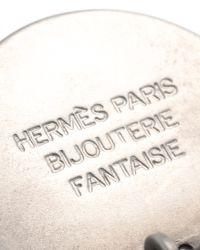 Hermès - Metallic HermãˆS Silver-Tone Earrings - Lyst