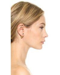 Vita Fede | Metallic Double Titan Crystal Earring - Gold/clear | Lyst