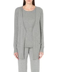 Allude - Gray Open-front Cashmere Cardigan - Lyst