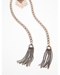 Free People | Blue Womens Stone Tassel Bolo | Lyst