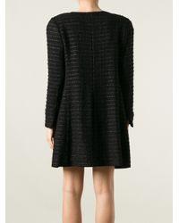 Edward Achour Paris - Black Bouclé Knit Coat - Lyst
