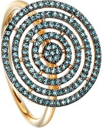 Astley Clarke | Icon Aura 14ct Yellow-gold And Blue Diamond Ring | Lyst