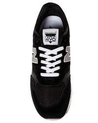 New Balance - Black The 80s Running 496 Sneaker for Men - Lyst