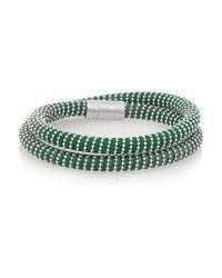 Carolina Bucci | Green Nspcc Double Twister Sterling Silver And Silk Wrap Bracelet | Lyst