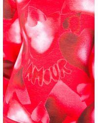 Valentino - Red Heart Print Sweatshirt - Lyst