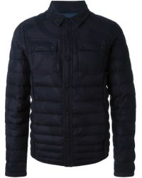 Etro - Blue Paisley Padded Jacket for Men - Lyst