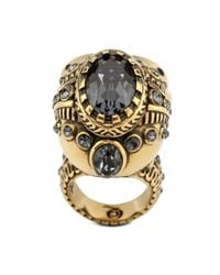 Alexander McQueen | Orange Victorian Jewelled Skull Ring | Lyst