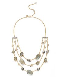Alexis Bittar | Metallic Triple Strand Necklace | Lyst