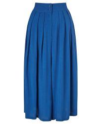 Numph - Blue Airi Wide Culottes - Lyst