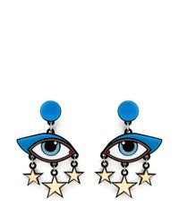Yazbukey | Multicolor 'bette Davis Eyes' Plexiglas Clip Earrings | Lyst
