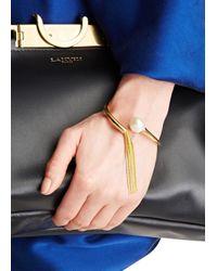 Ca&Lou | Metallic Inez 24Kt Gold Plated Tasselled Bracelet | Lyst