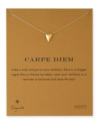 Dogeared - Metallic Gold-Dipped Carpe Diem Necklace - Lyst