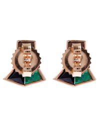 Nak Armstrong - Green Blue Mosaic Gemstone Stud Earrings - Lyst