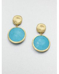 Marco Bicego - Blue Jaipur Resort Turquoise & 18K Yellow Gold Drop Earrings - Lyst