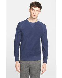 Norse Projects - Blue 'tristan' Raglan Sleeve Sweatshirt for Men - Lyst