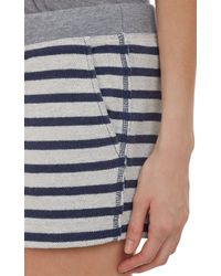 T By Alexander Wang | Blue Striped Shorts | Lyst