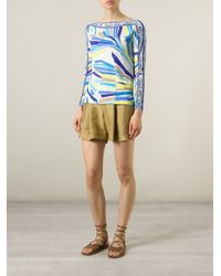 Emilio Pucci - Multicolor Abstract Print Blouse - Lyst