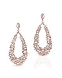 Anne Sisteron - Metallic 18kt Rose Gold Diamond Rome Earrings - Lyst