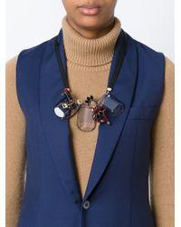 Marni - Black Contrastin Panel Necklace - Lyst