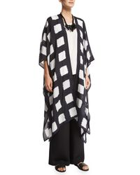Eskandar - Black Square Shibori Silk Coat - Lyst