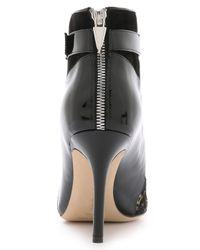 Prabal Gurung - Lace & Patent Booties - Black - Lyst