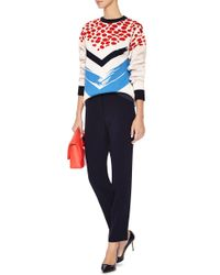 Être Cécile - White Chevron Printed Sweater - Lyst