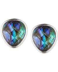 Judith Jack | Sterling Silver Blue Abalone Stud Earrings | Lyst